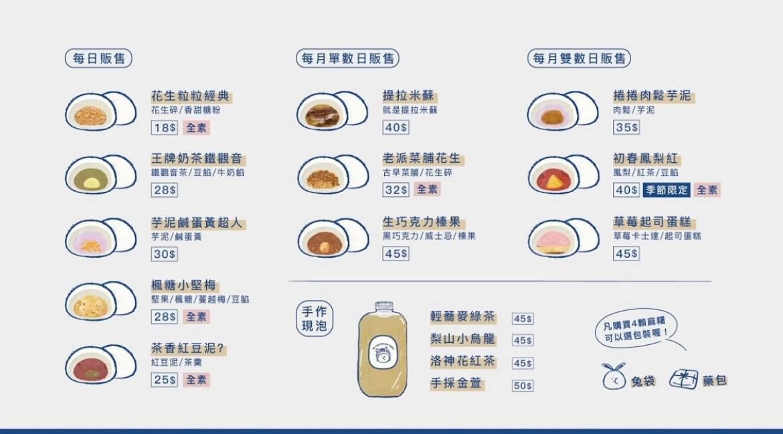 米玥麻糬堂菜單MENU